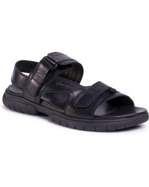 Sandały skórzany czarny Gino Rossi