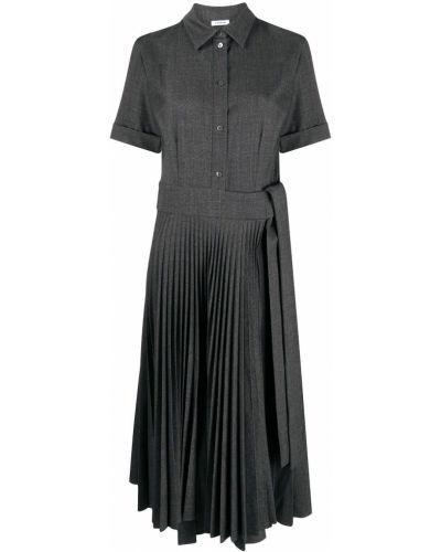 Прямое шерстяное серое платье миди P.a.r.o.s.h.