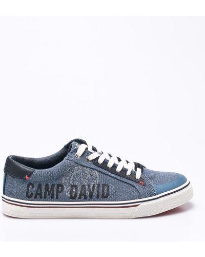 Кеды кожаный текстильный Camp David