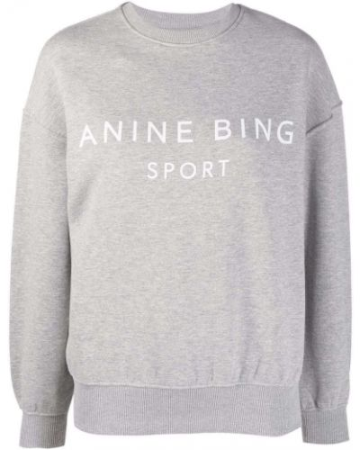 Серая кофта с вырезом Anine Bing