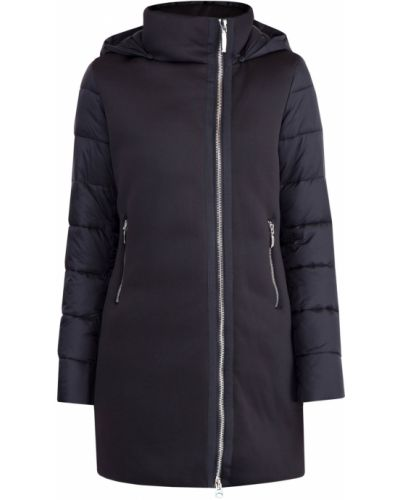 Куртка с капюшоном утепленная черная Cudgi