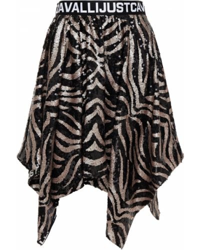 Spódnica asymetryczna tiulowa - czarna Just Cavalli