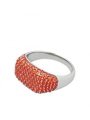 Pomarańczowy sygnet srebrny Tom Wood