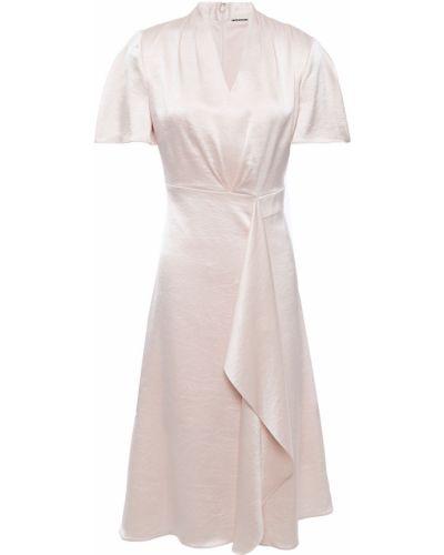 Satynowa sukienka Elie Tahari