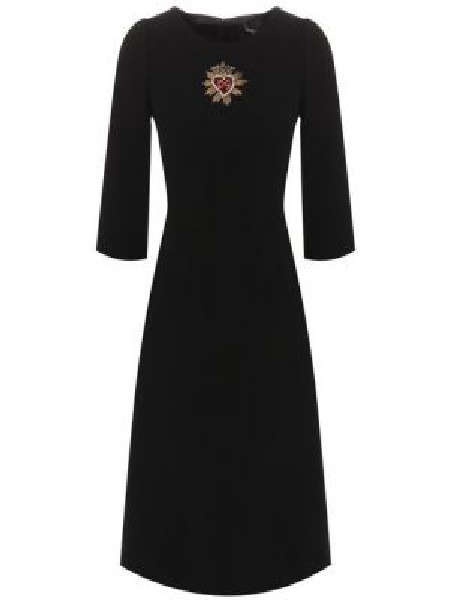 Вечернее платье с вышивкой деловое Dolce & Gabbana
