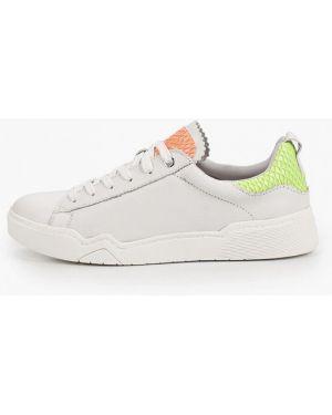 Белые кроссовки из натуральной кожи Tamaris