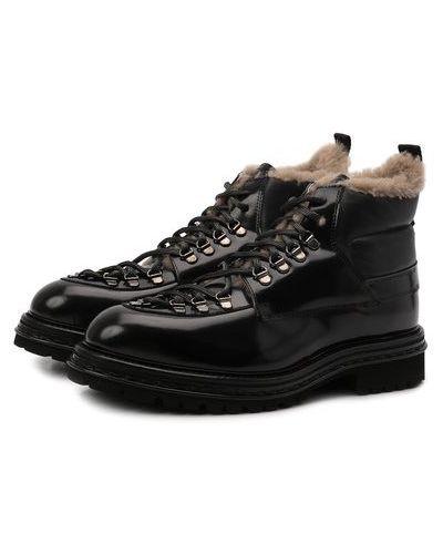 Черные кожаные сапоги Attimonelli's