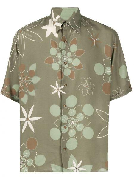 Koszula klasyczna z krótkim rękawem prosto Fendi