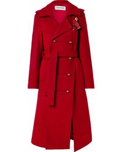 Кашемировое пальто двубортное с карманами Monse