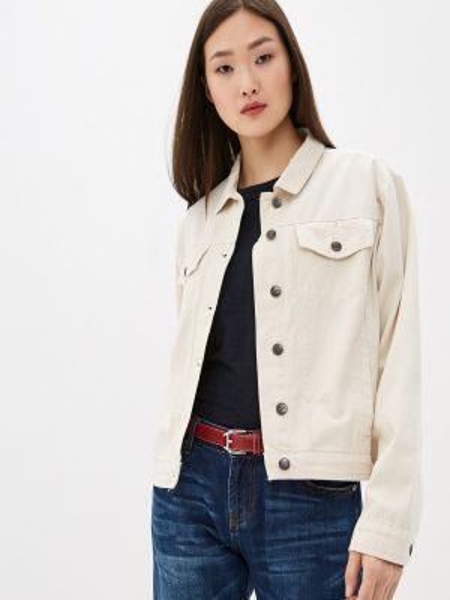 Бежевая джинсовая куртка One Teaspoon