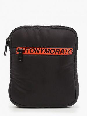 Текстильная черная сумка через плечо Antony Morato