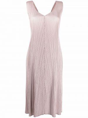 Платье с вырезом однотонное без рукавов Pleats Please Issey Miyake