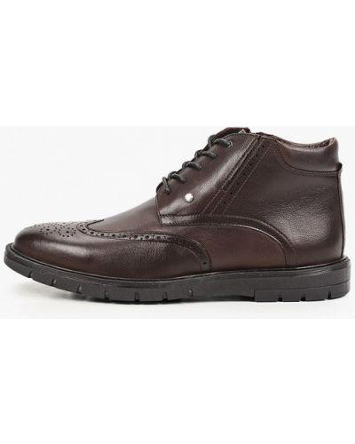 Кожаные ботинки - коричневые Just Couture