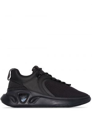 Кожаные черные кроссовки с сеткой Balmain