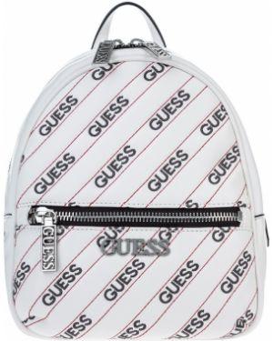 Рюкзак белый с вышивкой Guess