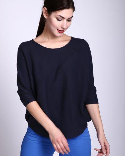 Пуловер с рукавом реглан синий Just Valeri
