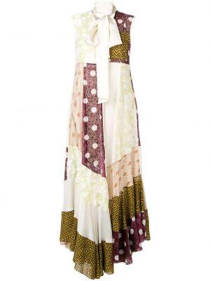 Шелковое вечернее платье - желтое Golden Goose