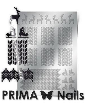 Наклейка для ногтей из серебра Prima Nails