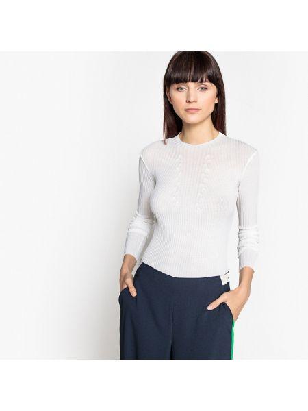 Пуловер в рубчик длинный La Redoute Collections
