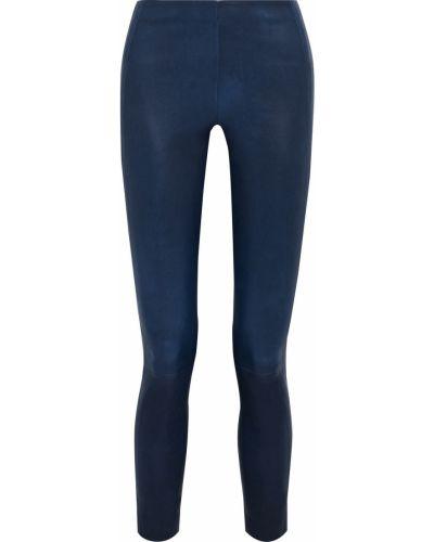 Niebieskie spodnie rurki skorzane Rag & Bone