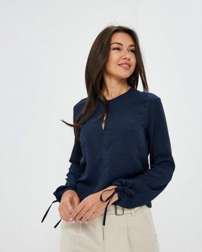Блузка с длинным рукавом польская синяя Awama