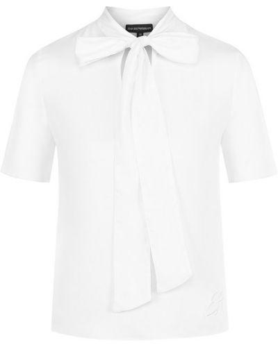Блузка с воротником-стойкой из вискозы Emporio Armani