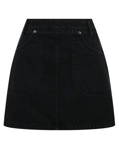 Джинсовая юбка - черная Kenzo