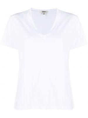 Хлопковая белая футболка с V-образным вырезом Agolde