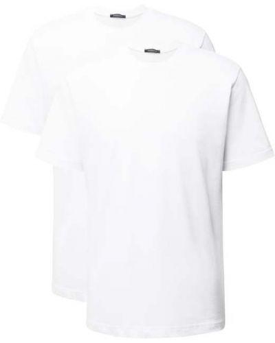 Biały t-shirt krótki rękaw bawełniany Schiesser