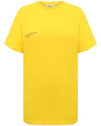 Хлопковая футболка - желтая Pangaia