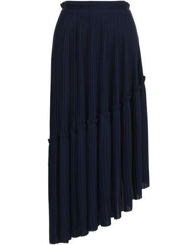 Плиссированная юбка миди асимметричная Kenzo