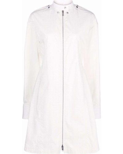 Sukienka długa z długimi rękawami - biała Givenchy
