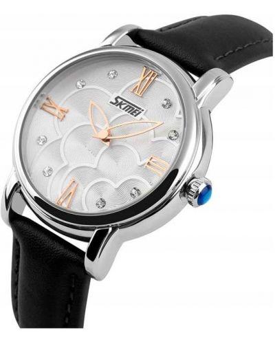 Klasyczny czarny zegarek srebrny Skmei