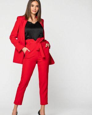 Облегающий красный брючный костюм Itelle