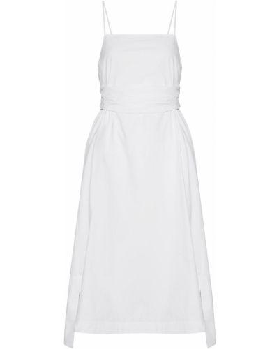 Хлопковое с ремешком белое платье Elizabeth And James