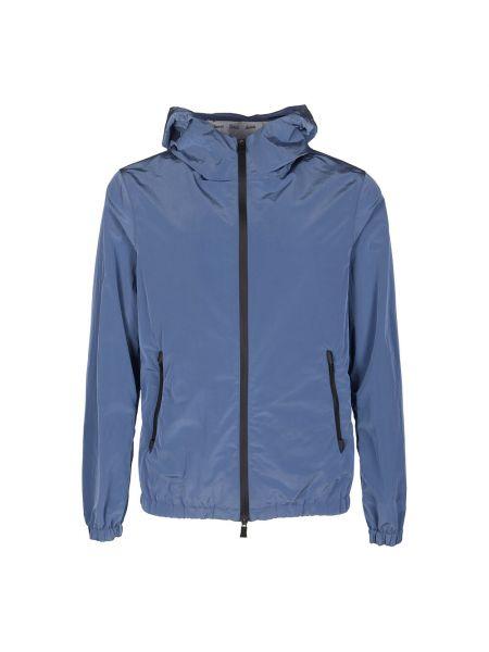 Niebieska kurtka z długimi rękawami Herno