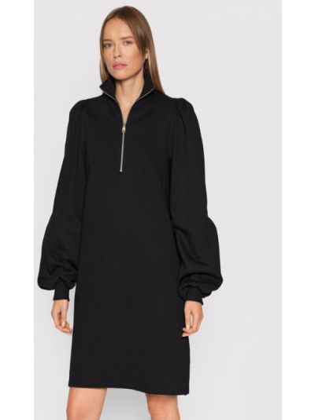 Czarna sukienka dzianinowa Gestuz