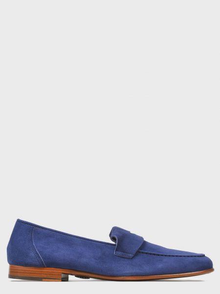 Повседневные синие кожаные лоферы Andrea Ventura