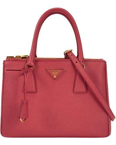 Кожаный сумка с логотипом Prada