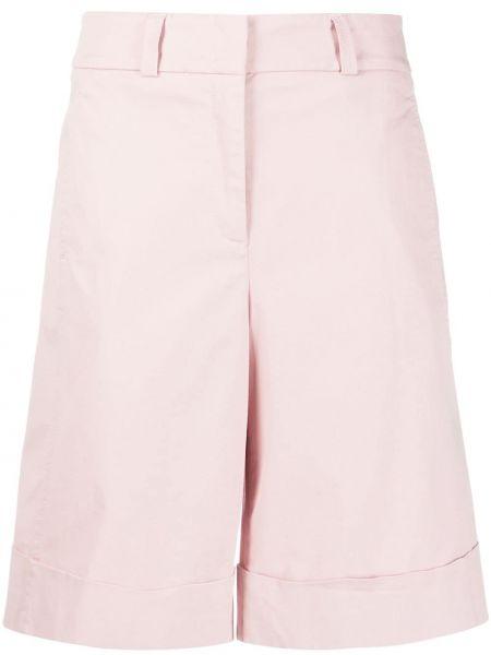 Розовые хлопковые шорты с карманами Peserico