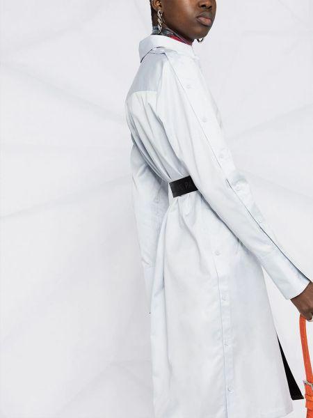 Белое платье миди с поясом с воротником Karl Lagerfeld