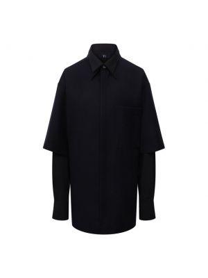Шерстяная рубашка - синяя Y`s
