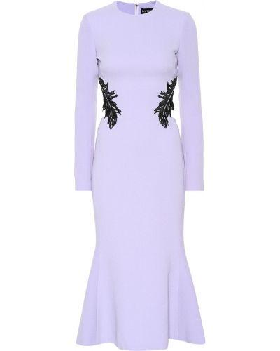 Платье шерстяное фиолетовый David Koma