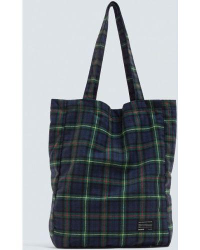 Синяя сумка шоппер Pull&bear