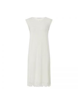 Ażurowa biała koszula nocna z frędzlami Chiara Fiorini
