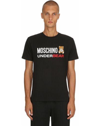 Czarny t-shirt Moschino Underwear