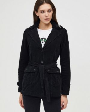 Куртка черная осенняя D'she