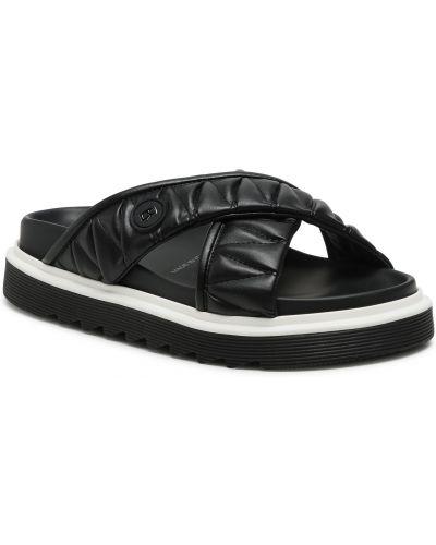 Czarne sandały Bogner
