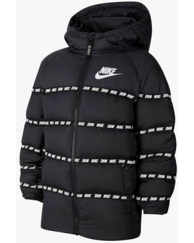 Утепленный черный пуховик Nike