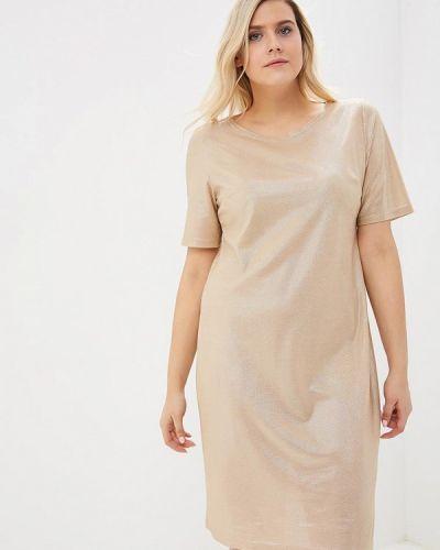 Повседневное платье осеннее золотой Sparada